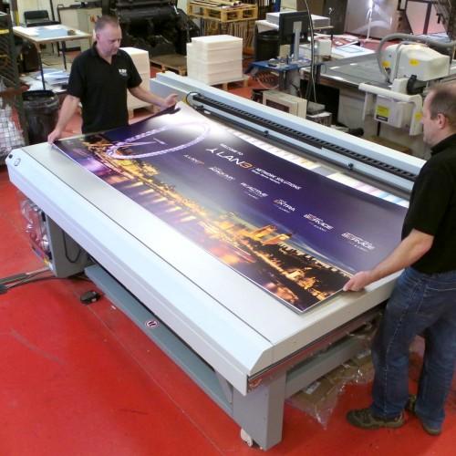 Large format digital print