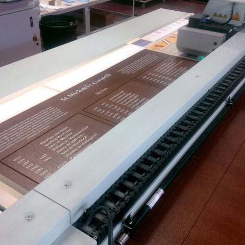 Digital print onto wood