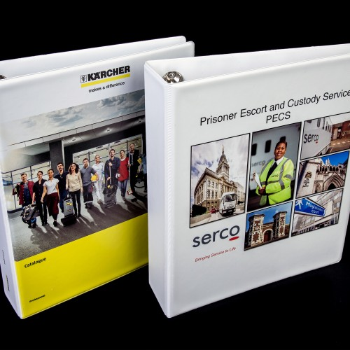 Digital print PVC binders