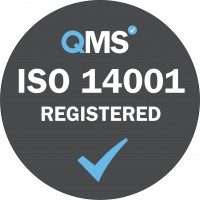 ISO 14001 Registered - Grey